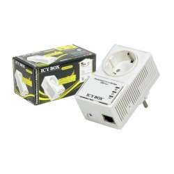 Adaptador Powerline con toma Schuko Ethernet 500Mbps