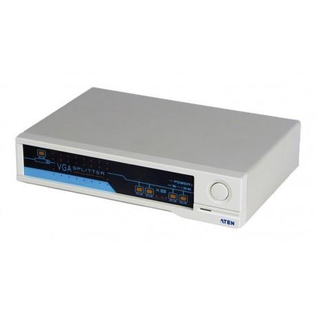 Multiplicador amplificador VGA 1 entrada -8 salidas 300 MHz 1920x1440