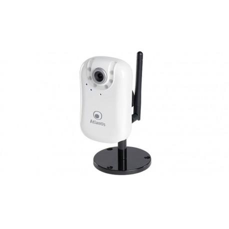 "Cámara IP interior Atlantis CMOS 1/4"" LED's, MPEG-4, RJ-45/Wireless"