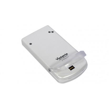 "Caja externa 2.5"" USB 2.0 con lector de huellas digitales"