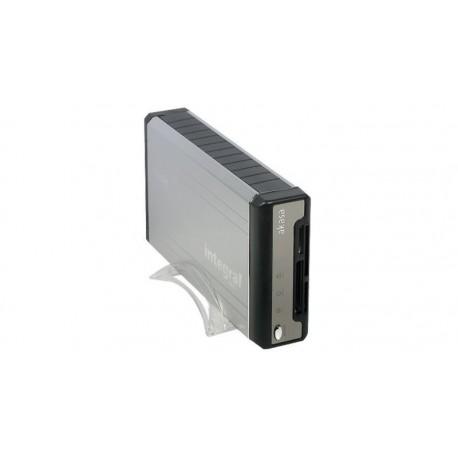 """Caja externa 3.5"""" con lector de tarjetas USB"""