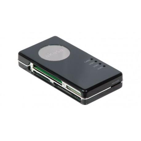 Lector de tarjetas externo USB 2.0 y Hub
