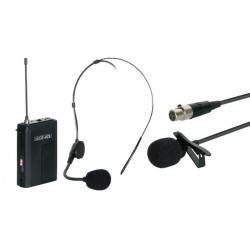 Micrófono inalámbrico 16 canales Body Pack + Headset