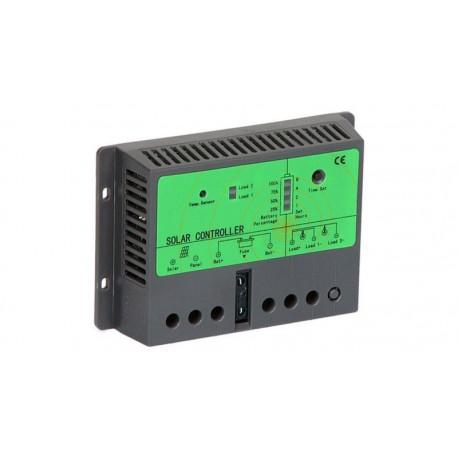 Controlador de carga/descarga nocturna por energía solar 24V 10/20A