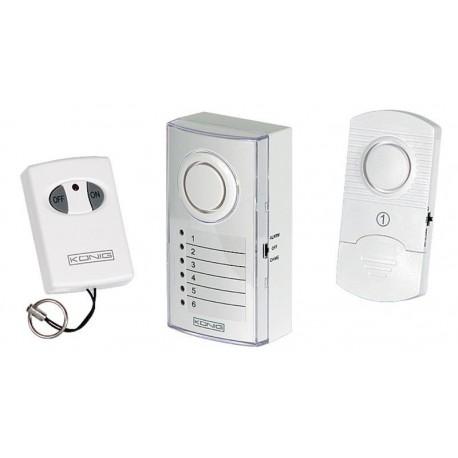 Sistema de alarma inalámbrica con alarma de 100dB