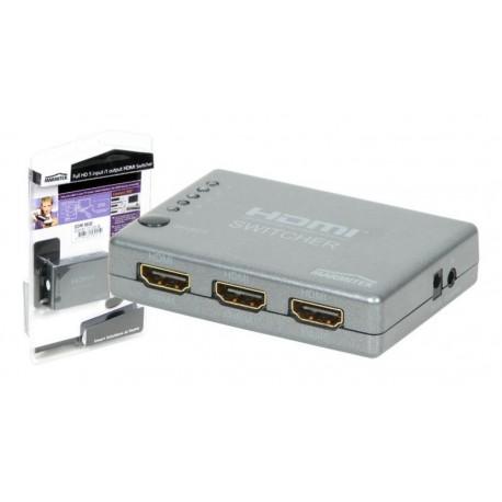Conmutador HDMI 5 entradas con mando 1080p 3D