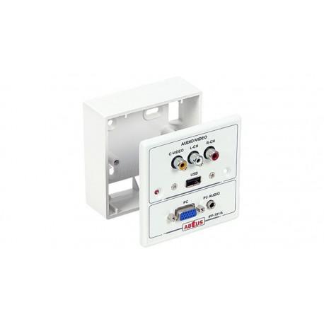 Caja de superficie para conexión multimedia Audio y video