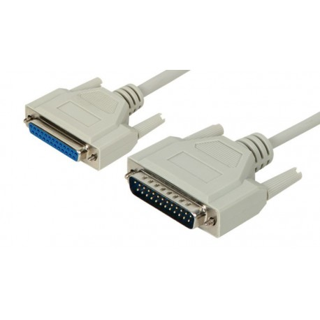 Cable de extensión DB25 M/H inyectado