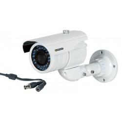 """Cámara de exterior varifocal CCD 1/3"""" en color con IR"""