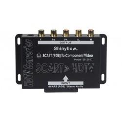 Conversor de Euroconector analógico a HDTV por componente con audio