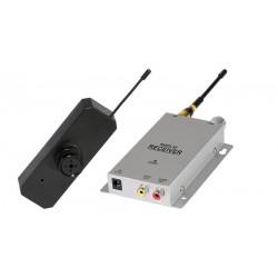 Cámara Wireless 2.4 GHz en botón de camisa con micrófono