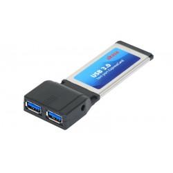 Tarjeta Express Card 34mm Akasa 2 portas USB 3.0