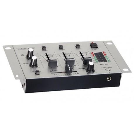 Mesa DJ mezcladora de 3 canales estereo
