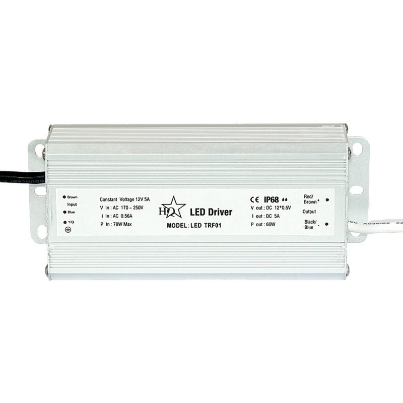 Transformador para l mparas led 12v dc 60w ip 68 hiper - Transformador led 12v ...