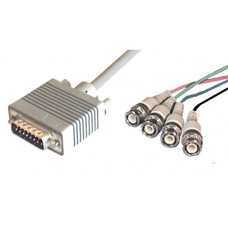 Cable Apple de monitor DB15-4xBNC