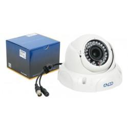 "Cámara Dome varifocal antivandalismo 2.8-12 mm CCD 1/3"" Sony 700 líneas IR 30 m IP66"