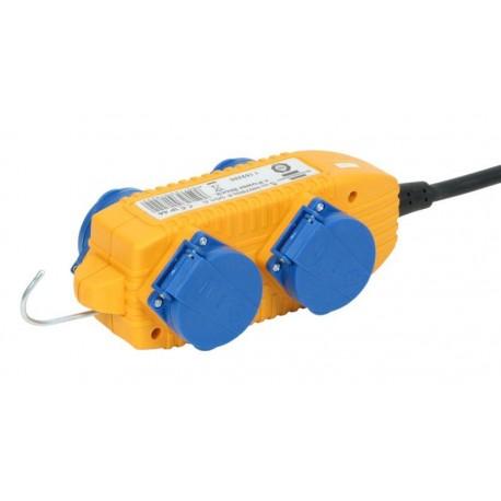 Cable de extensión 220v de 4 tomas Schuko IP44