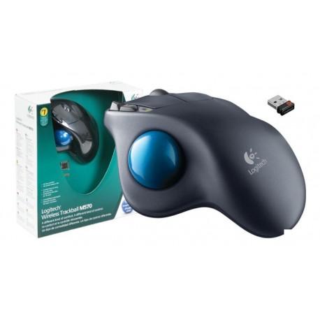 Trackball láser Logitech Wireless M570 + Unifying