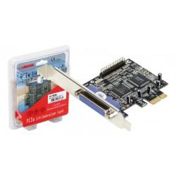 Tarjeta Longshine PCI-E 2 puertos paralelo con opción en bajo perfil