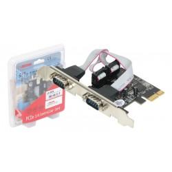 Tarjeta Longshine PCI-E 2 puertos serie RS-232 con opción en bajo perfil
