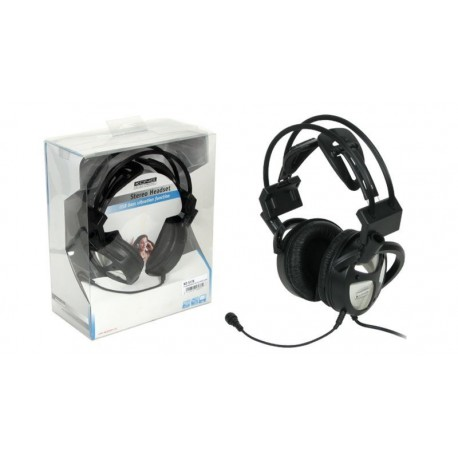 Auricular stereo Konig con micro y USB Bass Vibration negro