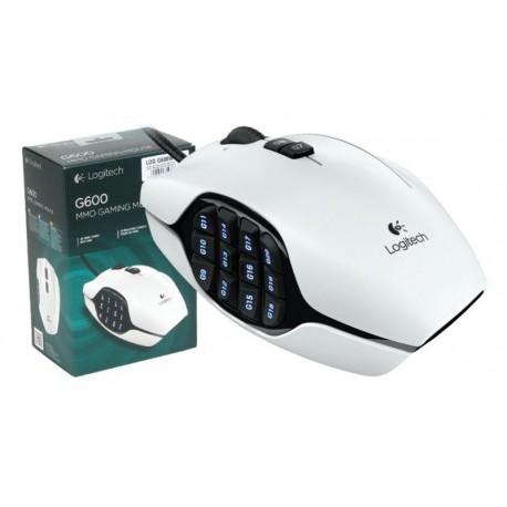 Ratón láser para gaming Logitech G600 MMO 200-8200 dpi