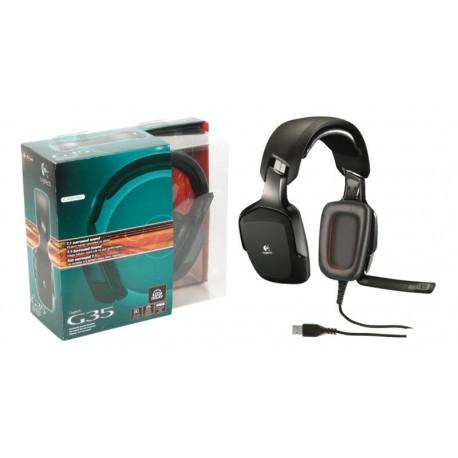 Auriculares con micrófono Logitech para gaming G35 7.1 surround USB