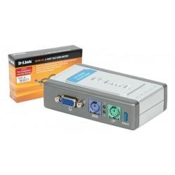 KVM D-Link PS/2 VGA 2-1 2048x1536 con cables