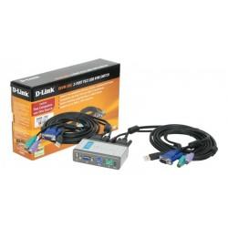 Conmutador KVM PS2 D-Link 2-1 puerto USB