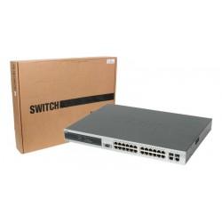 Switch D-Link 24 puertos 10/100 Mbps 2 puertos Gigabit mini GBIC con gestión