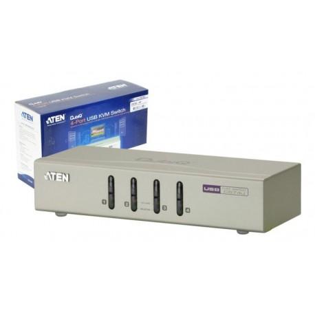 Data Switch KVM Aten USB con audio cables incluídos gris