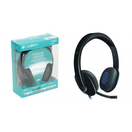 Auriculares con micrófono USB Logitech H540 negro