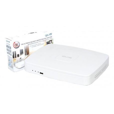 NVR QVIS 4 canales IP ONVIF H.264 1080p PTZ HDMI/VGA 1xSATA 2xUSB POE
