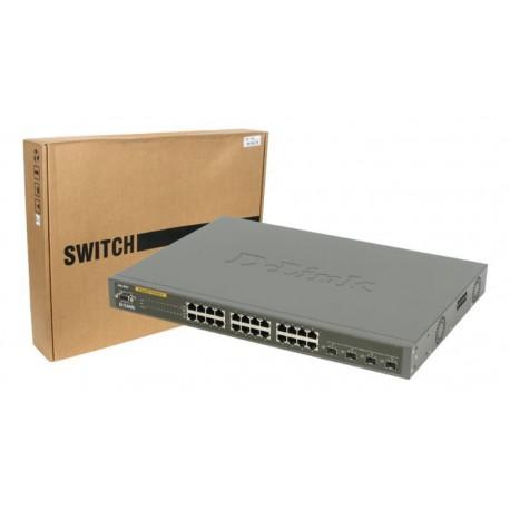 Switch 24 puertos D-Link DGS-3024 10/100/1000 Mbps mini GBIC con gestión