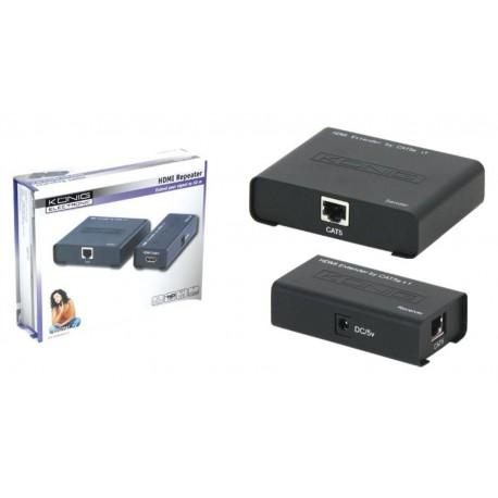 Kit de extensión HDMI 1080p por UTP 50m.