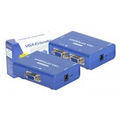 Amplificador VGA y audio hasta 100m por cable de red