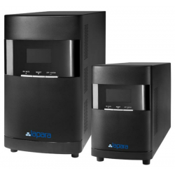 SAI Lapara 1000VA/800W, on-line, doble conversión, 4x IEC, USB/RS232, RJ45, LCD