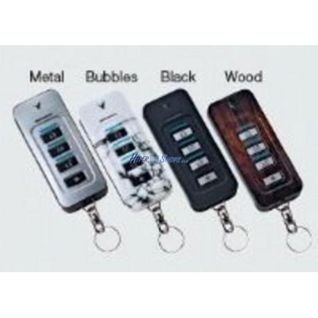 Visonic KF-235 PG2 - mando miniatura bidireccional con 4 botones y 3 leds de estado