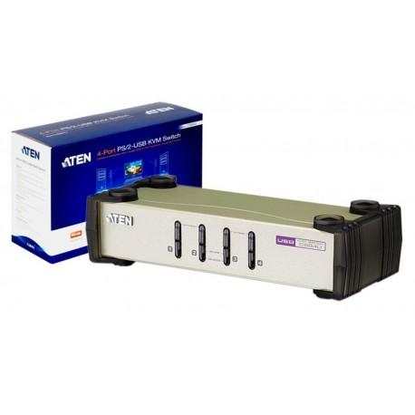 Data Switch automático PS2/USB 4 CPU a 1 MTR com cabos