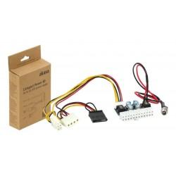 Adaptador DC a ATX 24P con conector Sata, Molex y CPU 4P 15cm