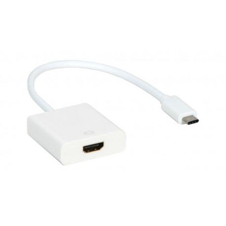 Cable conversor USB 3.1C o Tipo C a HDMI 0.15m blanco