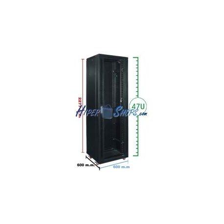 Armario rack 19'''' de pie 47U 600x600x2200mm MobiRack de RackMatic
