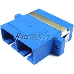 Acoplador de fibra óptica SC a SC monomodo duplex