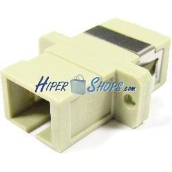 Acoplador de fibra óptica SC a SC multimodo simplex