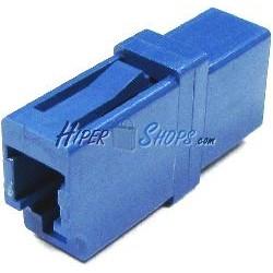 Acoplador de fibra óptica LC a LC monomodo simplex