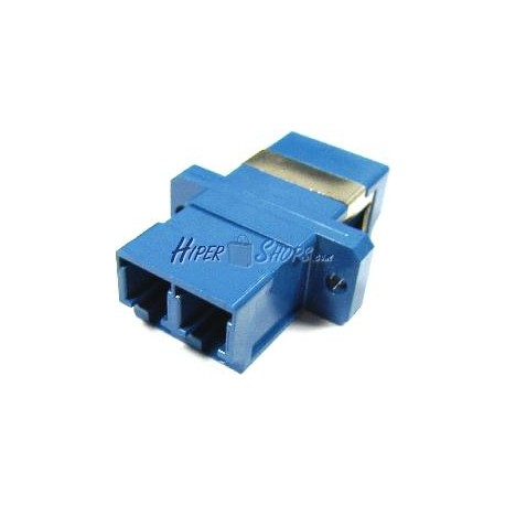 Acoplador de fibra óptica LC a LC monomodo duplex
