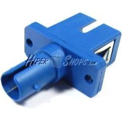 Acoplador de fibra óptica SC a ST monomodo simplex