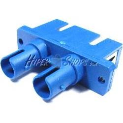 Acoplador de fibra óptica SC a ST monomodo duplex