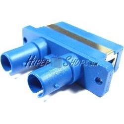 Acoplador de fibra óptica SC a ST multimodo duplex