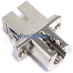 Acoplador de fibra óptica SC a LC monomodo simplex